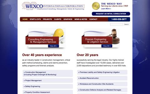 Screenshot of Home Page wexco.net - WEXCO - Consulting & Expert Witness - Construction, Safety & Engineering - captured Oct. 20, 2017