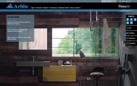 Screenshot of Home Page arblu.it - Arblu S.r.l. - captured Oct. 4, 2014