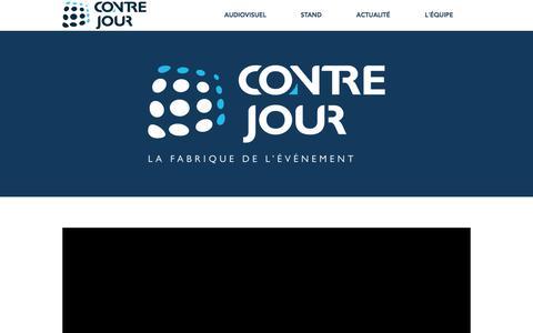 Screenshot of Home Page contre-jour.fr - CONTRE-JOUR Prestataire Audiovisuel et Standiste à Paris - captured Sept. 25, 2018