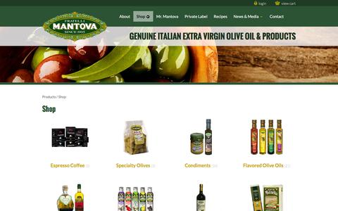 Screenshot of Products Page fineitalianfood.com - Products Archive - Fine Italian Food | Mantova Olive Oils | Authentic Italian Pastas - captured Aug. 3, 2016