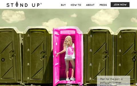 Screenshot of Home Page the-stand-up.com - Stand Up and Join the Urination - captured Dec. 2, 2015