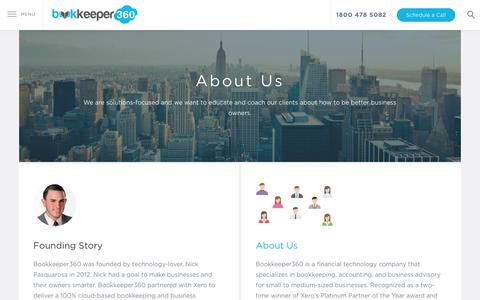 Screenshot of About Page bookkeeper360.com - About BK360 | Bookkeeper360 - captured Sept. 24, 2018