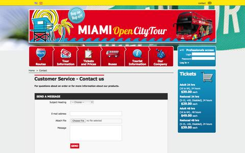 Screenshot of Contact Page miamiopencitytour.com - Contact us - Miami Open City Tour - captured Oct. 6, 2014