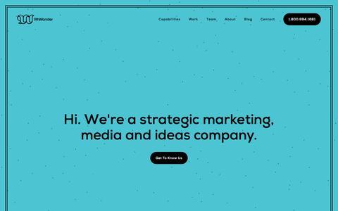 Screenshot of 9thwonder.com - 9thWonder | An Independent Marketing Agency - captured Aug. 9, 2019