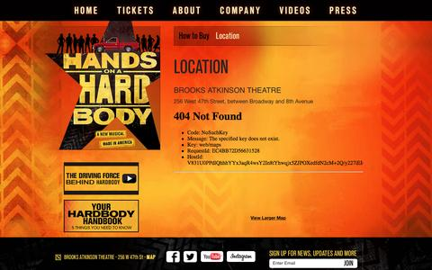 Screenshot of Maps & Directions Page handsonahardbody.com - Official Site for HANDS ON A HARDBODY on Broadway - captured June 4, 2016