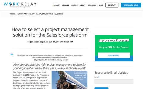 Screenshot of Blog work-relay.com - Blog Archives - Work-Relay - captured Oct. 1, 2016