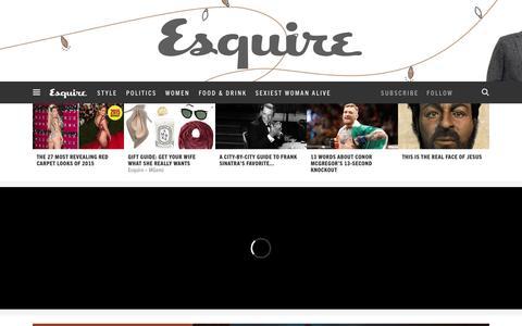 Screenshot of Home Page esquire.com - Esquire - Men's Fashion, Cocktails, Politics, Interviews, and Women - captured Dec. 14, 2015