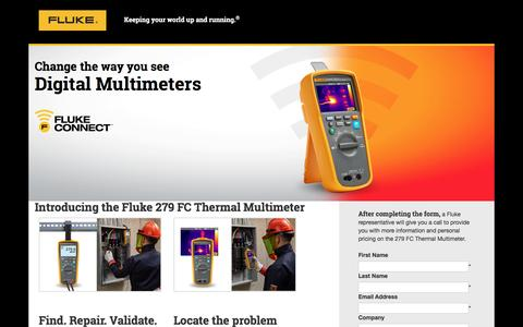 Screenshot of Landing Page fluke.com - Change the way you see Digital Multimeters - captured Aug. 14, 2016