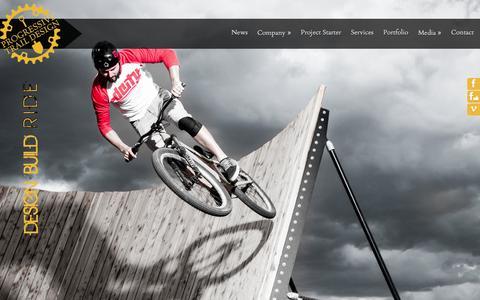 Screenshot of Home Page progressivetraildesign.com - Progressive Trail Design - captured Jan. 27, 2015