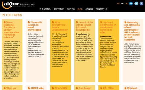 Screenshot of Press Page aktor.co.uk - In the press   Aktor Interactive - captured Nov. 20, 2016