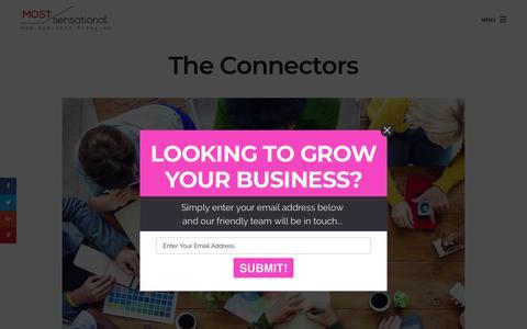 Screenshot of Team Page mostsensational.com - The Connectors – MostSensational - captured Sept. 21, 2018