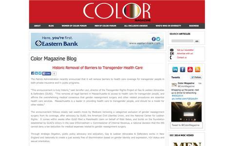 Screenshot of Blog colormagazineusa.com - Color Magazine Blog - captured Oct. 3, 2014