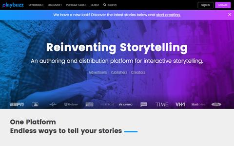 Playbuzz: Authoring Platform for Interactive Storytelling