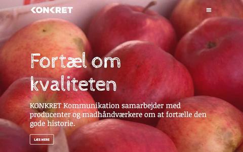 Screenshot of Home Page konkret.dk - KONKRET Kommunikation - captured Oct. 6, 2014