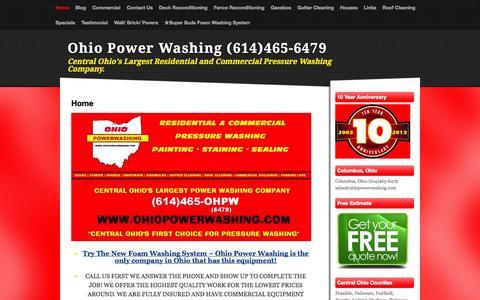Screenshot of Home Page ohiopowerwashing.com - Home - Ohio Power Washing (614)465-6479 - captured Oct. 9, 2014