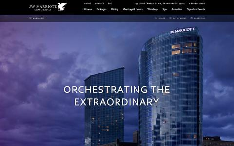 Screenshot of Home Page ilovethejw.com - Home | JW Marriott Grand Rapids - captured March 3, 2016