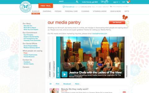 Screenshot of Press Page honest.com - Honest Press Room | Jessica Alba TV News & Interviews | The Honest Company - captured Dec. 11, 2015