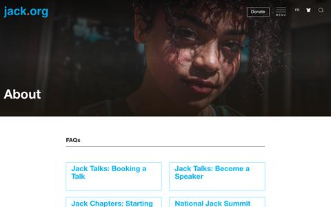 Screenshot of FAQ Page jack.org - Jack.org - FAQ - captured July 18, 2018