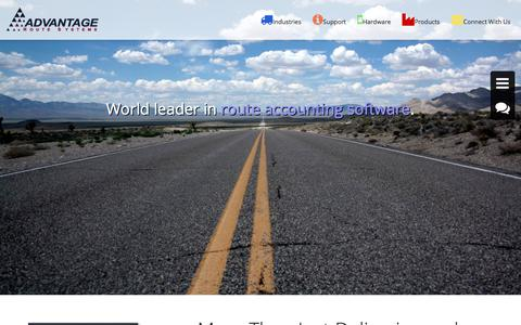 Screenshot of Home Page advantagers.com - AdvantageRS | World Leader In Route Accounting Software. - AdvantageRS - captured Oct. 7, 2017