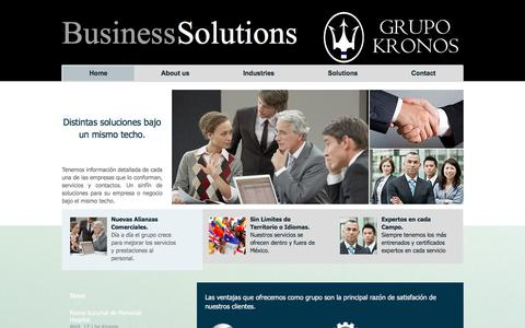 Screenshot of About Page grupo-kronos.com - Grupo KRONOS - captured July 14, 2018