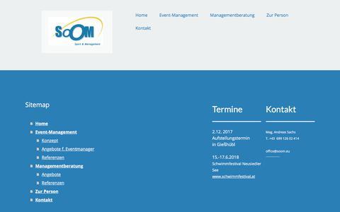 Screenshot of Site Map Page jimdo.com - Sitemap - soom-management-sports Webseite! - captured Sept. 21, 2018