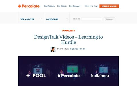 Screenshot of Blog percolate.com - The Percolate Blog - captured Sept. 17, 2014