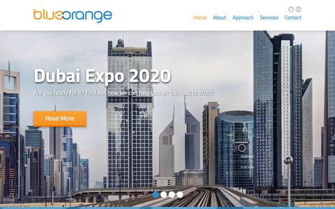 Screenshot of Home Page blueorange.co - blueorange - Simplifying Marketing - captured Sept. 30, 2014