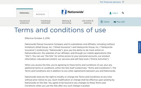 Terms and Conditions for Nationwide.com