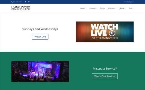 Screenshot of Press Page napleschurch.com - Media | Living Word Family Church - captured Nov. 2, 2014