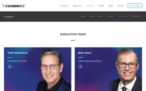 Screenshot of Team Page cudirect.com - Leadership – CU Direct - captured March 14, 2019