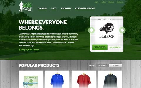 Screenshot of Home Page About Page Privacy Page Contact Page Support Page Login Page Terms Page Team Page luckyduckgolf.com - Home page | Lucky Duck Golf - captured Oct. 6, 2014