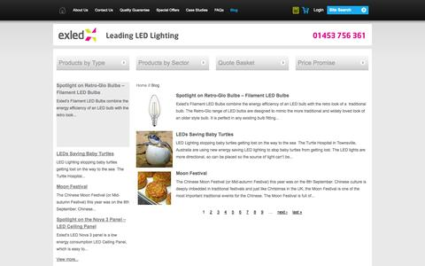 Screenshot of Blog exled.co.uk - Blog | Exled - captured Oct. 1, 2014