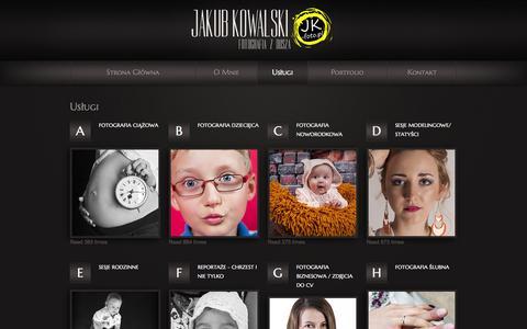 Screenshot of Services Page jk-foto.pl - jk-foto - Twój fotograf :) - captured Oct. 6, 2014