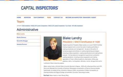 Screenshot of Team Page capitalinspectors.com - Capital Inspectors | Team - Capital Inspectors - captured Sept. 27, 2014