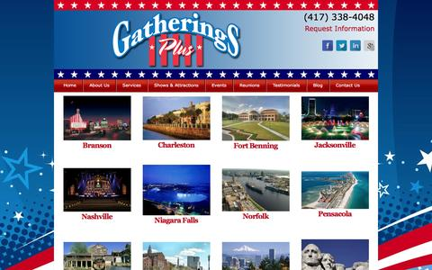 Screenshot of Products Page reunionpro.com - Products | Gatherings Plus - Military Reunion Planner - Branson, Seattle, Washington D.C., Norfolk & More! - captured Oct. 27, 2016