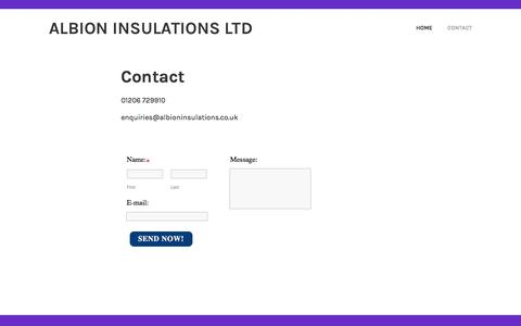 Screenshot of Contact Page albioninsulations.co.uk - Contact - Albion Insulations ltd - captured May 29, 2017