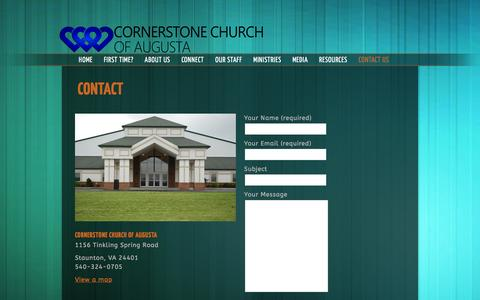 Screenshot of Contact Page cornerstoneaugusta.org - Contact Us «  Cornerstone Church of Augusta - captured Feb. 1, 2016