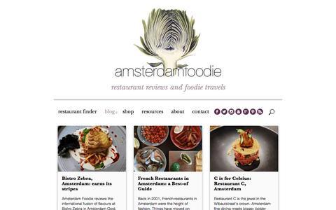 Screenshot of Blog amsterdamfoodie.nl - Amsterdam Restaurant Blog - captured July 30, 2018