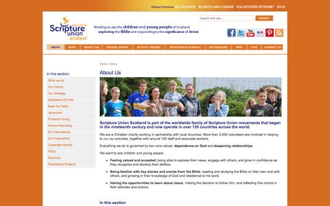 Screenshot of About Page suscotland.org.uk - SU Scotland - About Us - captured Oct. 6, 2014