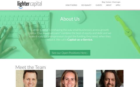 Screenshot of About Page lightercapital.com - Lighter Capital | About Us - captured Dec. 4, 2015