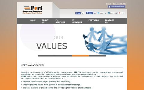 Screenshot of Home Page pert-mgmt.com - Pert Management Consultants - captured Oct. 1, 2014
