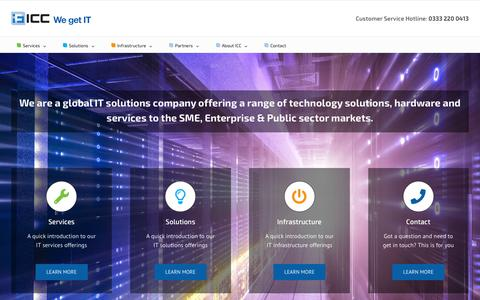 Screenshot of Home Page icc4it.co.uk - IT support and solutions for the SME and enterprise - captured Oct. 1, 2018