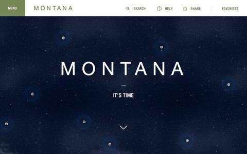 Screenshot of Home Page visitmt.com - Montana's Official Tourism, Travel & Vacation Info Site - captured Oct. 1, 2015