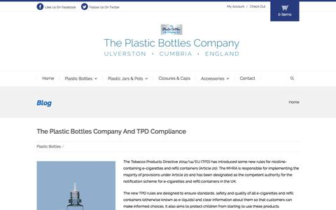 Screenshot of Blog theplasticbottlescompany.com - Blog - The Plastic Bottles Company - captured Aug. 15, 2016
