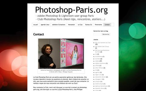Screenshot of Contact Page photoshop-paris.org - Photoshop Paris: Contact - captured Jan. 1, 2017