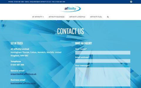 Screenshot of Contact Page af-affinity.co.uk - Contact us   AF Affinity - captured Dec. 22, 2015
