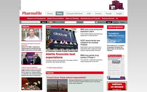 Screenshot of Press Page pharmafile.com - News | Pharmafile - captured Nov. 2, 2014
