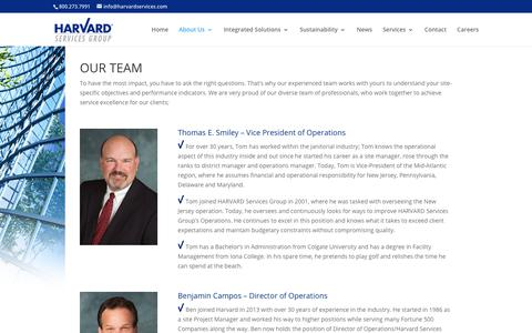 Screenshot of Team Page harvardsg.com - Our Team | HARVARD Services Group - captured March 16, 2019