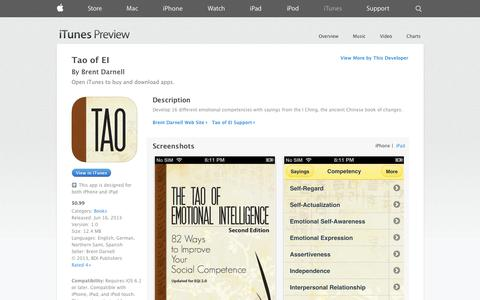 Screenshot of iOS App Page apple.com - Tao of EI on the App Store on iTunes - captured Oct. 23, 2014