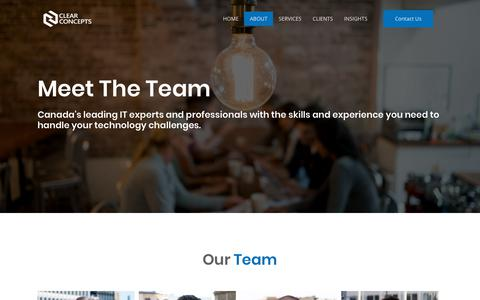 Screenshot of Team Page clearconcepts.ca - The Team | Clear Concepts | Winnipeg Managed IT Services - captured July 18, 2018